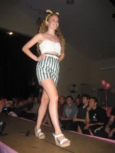 Samantha Coming down the runway!