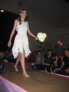 Lila coming down the runway!